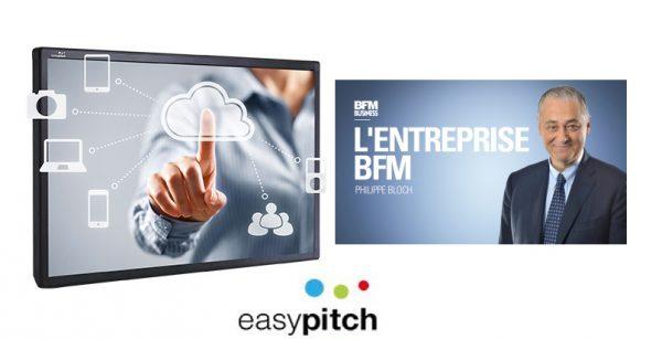 Les écrans interactifs easypitch sur BFM TV