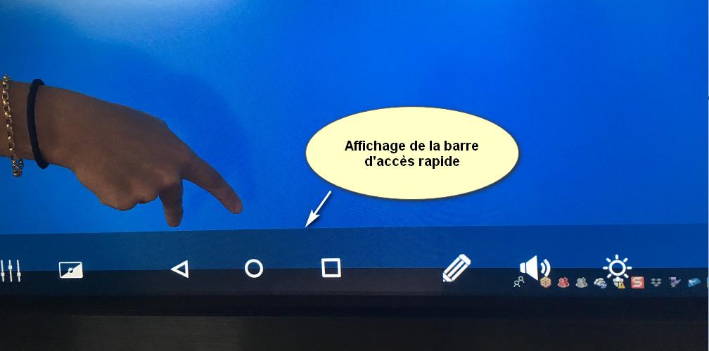 Affichage de la barre d'acces rapide