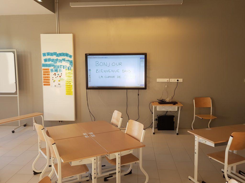 écran interactif easypitch installé dans une classe