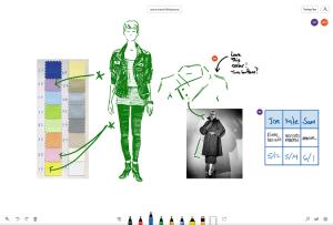 collaboration sur tableau blanc virtuel microsoft