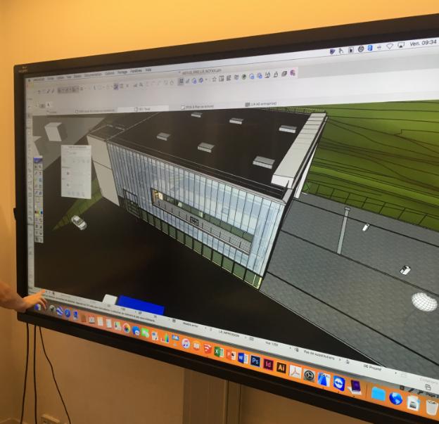 projet architecture sur ecran interactif