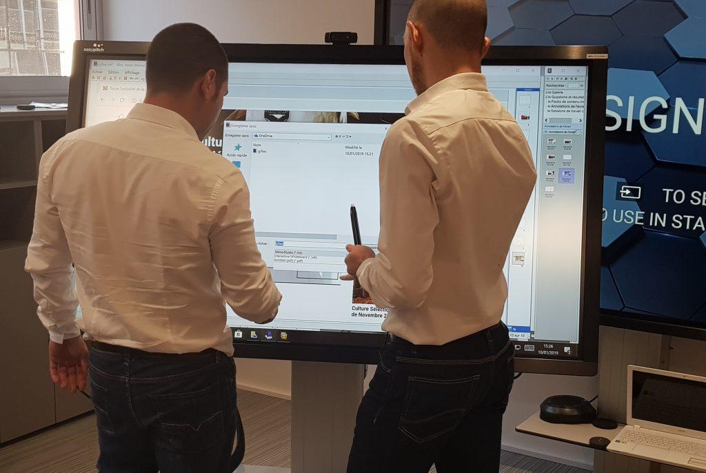 les ecrans interactifs easypitch a monaco informatique service