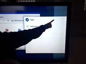 etape 2 pour le partage d ecran