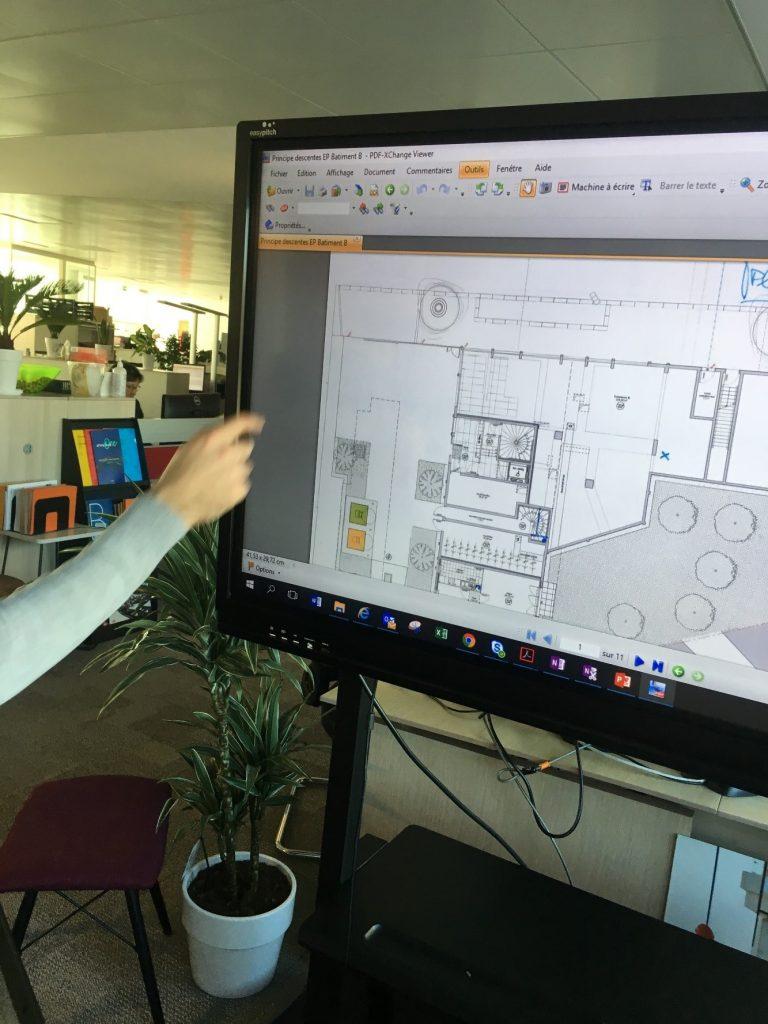 utilisation de l ecran interactif easypitch en conception de maquettes