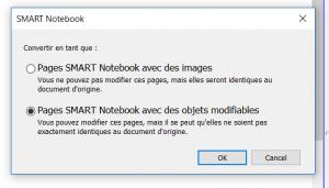 pour enregistrer un fichier en format smart notebook