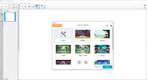 L'interface du logiciel SMART Notebook