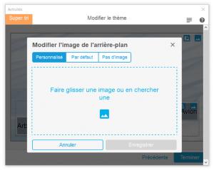 modifier une image ou l'arrière plan d'une activité sur smart notebook