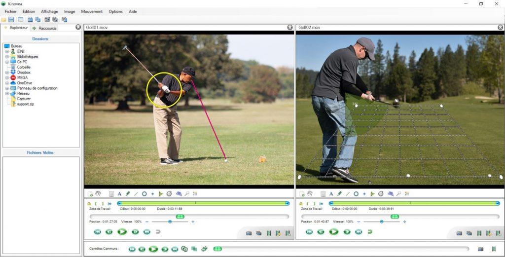 stratégie de jeu au golf sur écran interactif