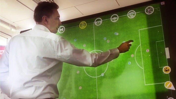 utilisation de l'écran interactif en stratégire sportive