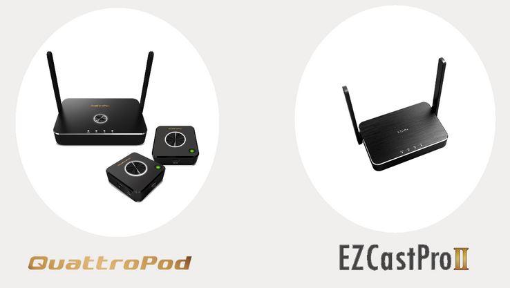 comparatif entre Quattropod et Ezcast proII