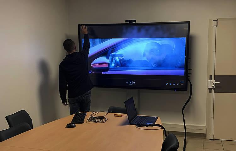 ecran tactile interactif police municipale Rungis