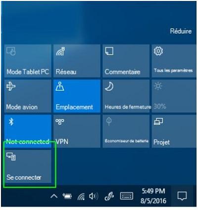 connexion sans fil ecran interactif