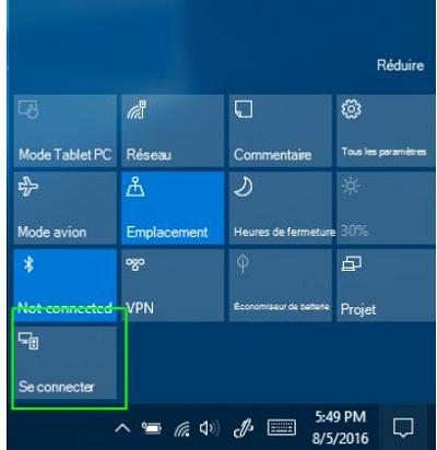 connexion wifi ecran interactif