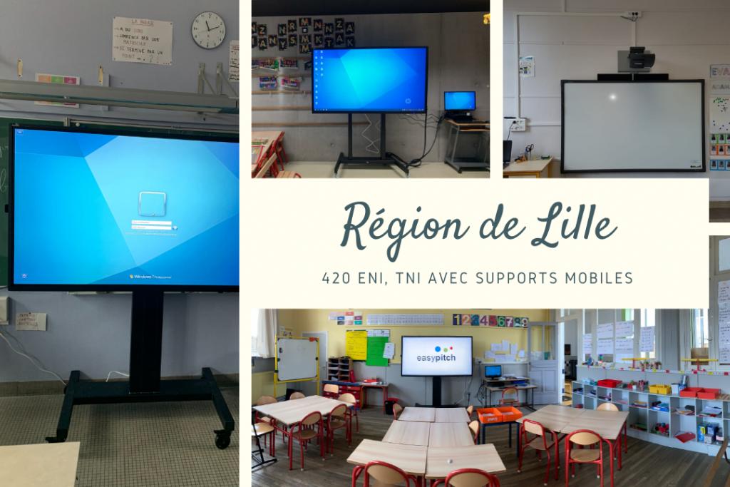Installation de tni et eni dans les écoles de Lille