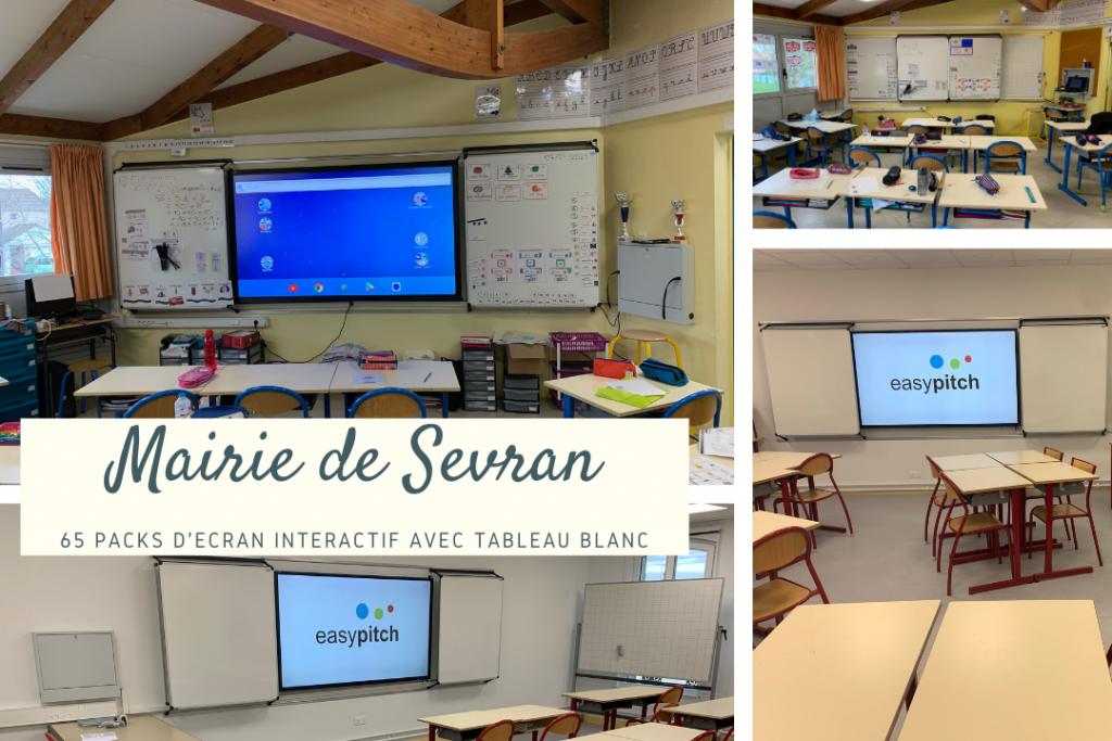 Installation des packs easypitch flash dans les écoles de Sevran