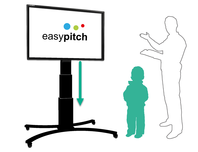 ecran interactif easypitch sur un support mobile ajustable