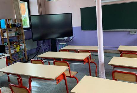 écran interactif à l'ecole primaire beaucourt