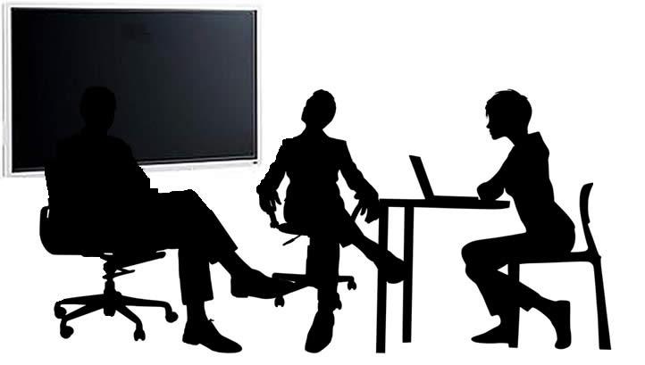 écrans interactifs dans les salles de réunion