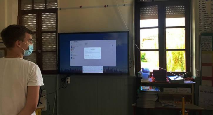 ecran interactif Ecole rurale